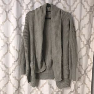 Tops - Chunky knit slouchy neck boyfriend sweater